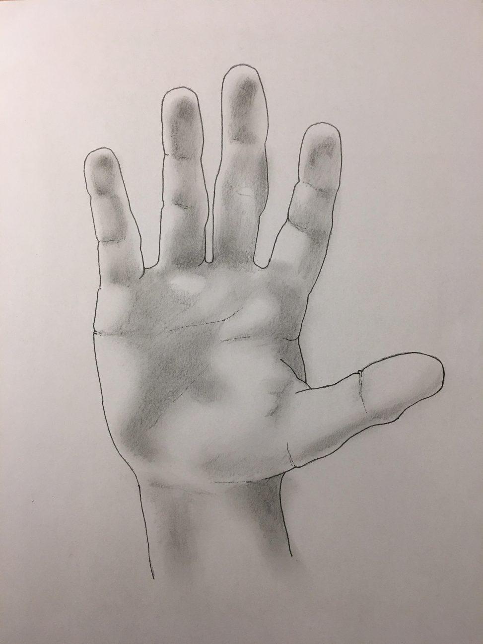 Unos hand hej